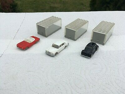 LEGO Vintage Classic 1:87 Mercedes 190 Mercedes 220 and VW Beetle 1200 with box