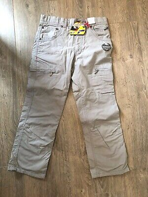 Bnwt Boys M&S Chino Trousers Age 10 - Adjustable Waist - F1