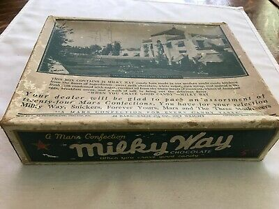 Milky Way Chocolate Vintage Candy Box, Mars Confections