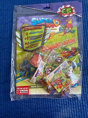 All 4 X Superzings Rivals OF Kaboom - Series 5 - Comic Guide - Starter Pack