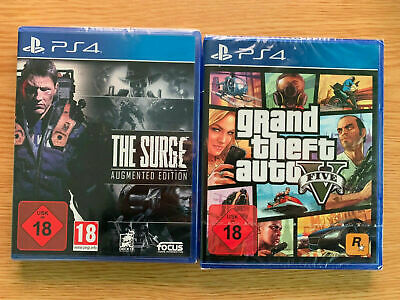 GTA 5 Grand Theft Auto V + The Surge: Augmented Edition  (PLAYSTATION 4) PS4 NEU