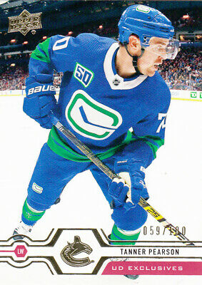 2019-20  Upper Deck Series 2  #423 Tanner PEARSON EXCLUSIVES  #059/100