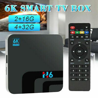 H6 Smart Tv Box Android 9.0 4Gb Ram 32Gb Rom 6K Hdr Wifi Iptv Media Lettore Y7V0