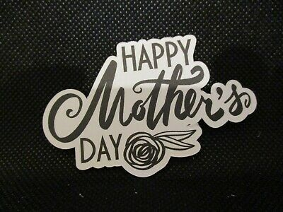 10 Printed Happy Mother's Day With Flower Die Cuts........cardmaking