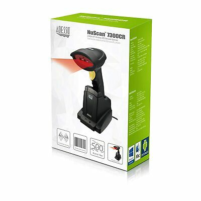 NEW Adesso NuScan 7300CR 2.4 GHz RF Wireless CCD Barcode Scanner PC Mac