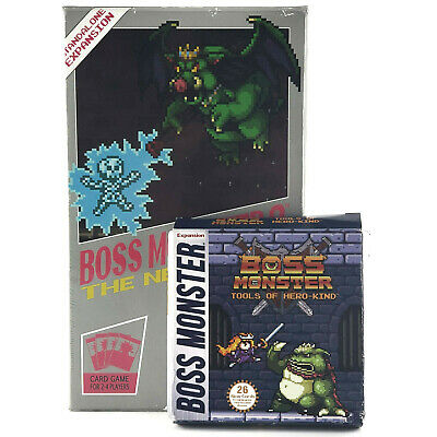Boss Monster 2 The Next Level + Tools of Hero-Kind card game Brotherwise Games