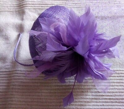 Lovely JACQUES VERT lilac fascinator on headband *wedding/races/occasion*