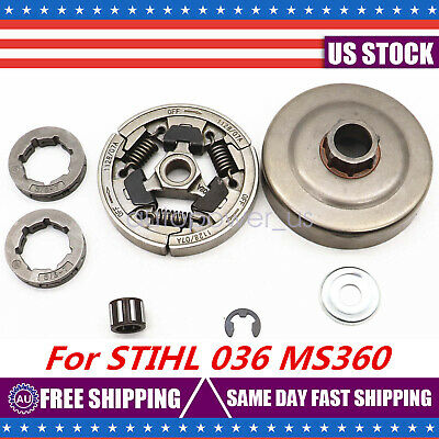 "For Stihl 036 MS360 Chainsaw Clutch Drum Rim Sprocket Bearing Kit  3/8""-7T New"