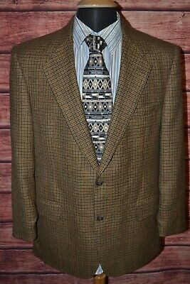 Brooks Brothers Men's Houndstooth Lamb Wool 2 Front Button Sports Coat Sz 40R