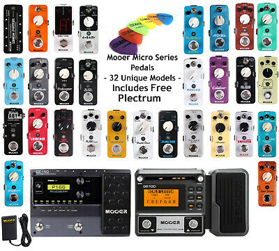 Mooer Micro Guitar Effect Pedals Power Supply Multi-Effects Assessories + More