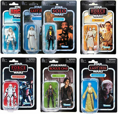 Star Wars The Vintage Collection Boba Fett Stormtrooper Chewbacca Leia Loose