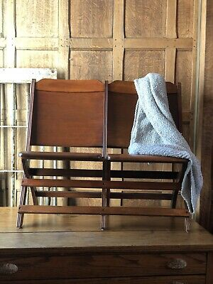 Antique Theater Seat, Wood Folding Chairs, Entryway Bench Seat