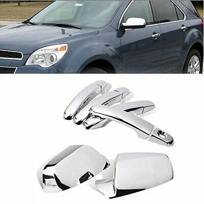 For 2010-2017 Chevy Equinox Chrome Side view Mirror+4 Door Handle Cover W//1 KH