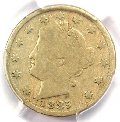 1885 Liberty Nickel 5C - Certified PCGS VG8 - Rare Key Date Certified Coin!