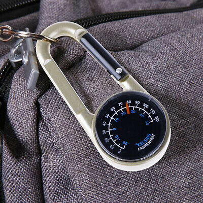 2 in 1 Multifunctional Camping Mini Compass Carabiner Keyring Keychain