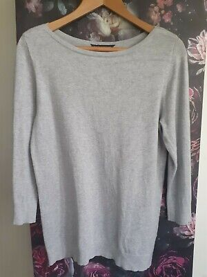 Gorgeous Dorothy Perkins Grey Wide Neck Jumper Size 12 Ex Condition