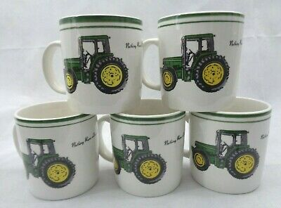 John Deere Tractor Coffee Mug Nothing Runs Like A Deere 12oz 5 cup set