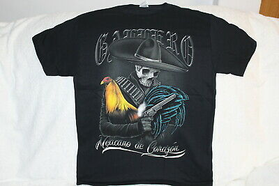 ROOSTER MONEY COCK FIGHT $100 HONOR GALLERO BLACK T-SHIRT SHIRT