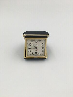 Vintage Seth Thomas Folding Travel Table Alarm Clock