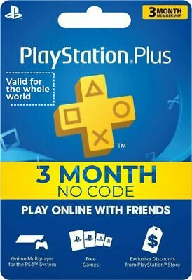 Ps Plus 3 month PS4 Playstation 4 (no code)