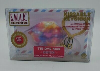 "WowWee - S.W.A.K Sealed With a Kiss - Kissable Keychain ""Tie Dye Kiss"" Series 1"