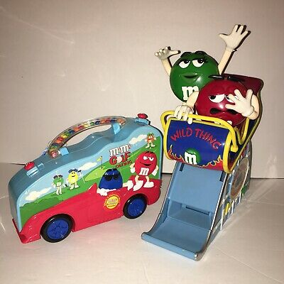 M&M's Dispenser Wild Thing Roller Coaster Ride and 2004 Car Box