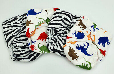 Bulk Cheap Cloth Nappy SHELLS 4 Pack Boy Prints Dino, Shipped from QLD Australia