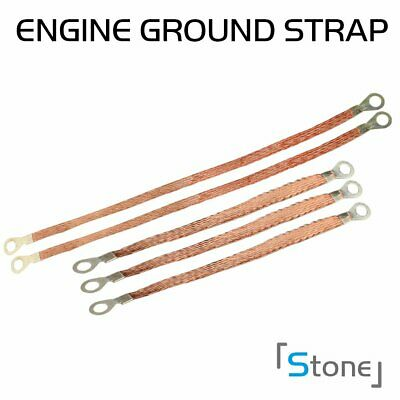 Durable Automotive Ground Strap Tinned Copper Heavy Duty Corrosion Resistant DIY