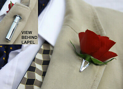 Buttonhole*Boutonniere*Tussie Mussie Flower Holder / Water Reservoir for Lapel