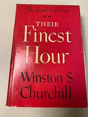 Vintage Their Finest Hour by Winston Churchill Hardcover 1949
