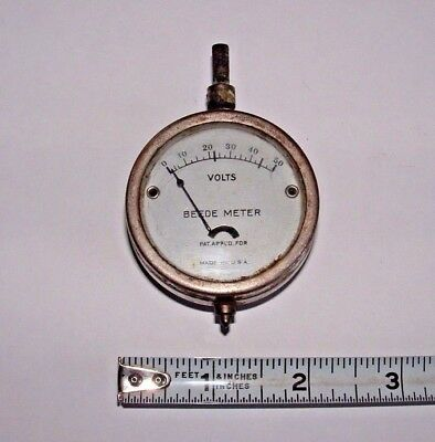 BEEDE METER Voltmeter, USA, Non-working, Vintage Collection Piece, pre-owned