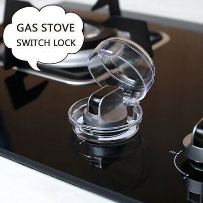 2pcs Safety Clear View Stove Knob Covers Baby Protection Children Kids Gas Lock