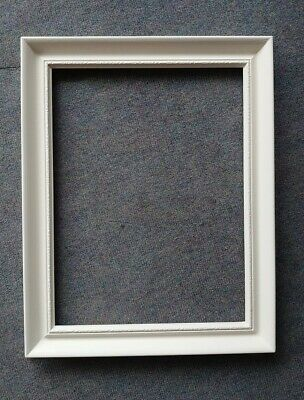 Solid Wood White Picture Frame 16x12 Handmade White Distressed Shabby Chic