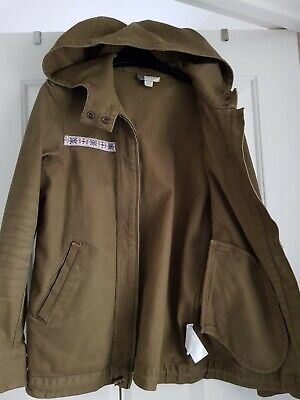 Roxy Women's/Girl  Size XS(UK 10/12) Hood,Zip  Drawstring Jacket Khaki/Green VGC