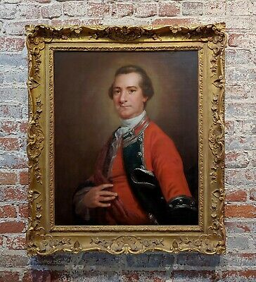 Manner of Thomas Gainsborough 18th c Portrait of an English Officer-Oil painting