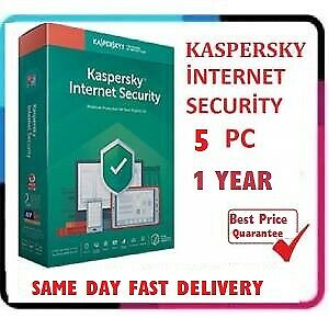 Kaspersky internet Security 5 Device | 2020 /360 + Days | Download | Key Only