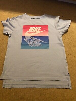 Girls Blue Nike T-shirt/ Top Age 8-10 Years