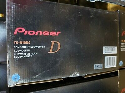 Pioneer (TS-D10D4) 10 Dual 4 ohms Voice Coil Subwoofer Rating: 500W RMS / 1500W