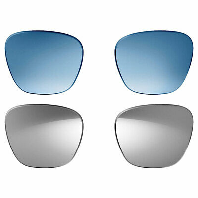 Bose Lenses Alto - 2 Pairs - Polarized Mirrored Silver & Blue Gradient (M/L)