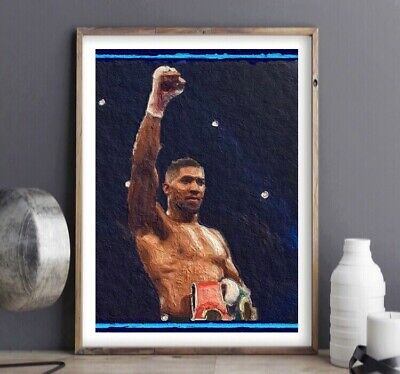 Anthony Joshua Boxing Champion Boxer Signed Framed Poster Print A1 A2 A3 A4