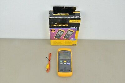 New Fluke 51 II Thermocouple Digital Thermometer & Accessories