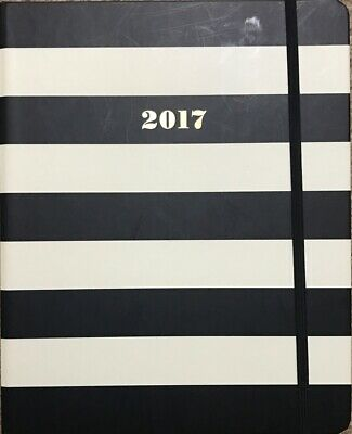 Kate Spade New York 17-Month Mega Jumbo Spiral Agenda - Black Stripe