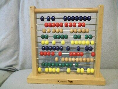 Well-made Melissa & Doug abacus - 100 colourful wooden beads