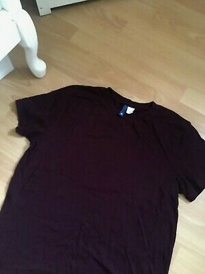 H&M MENS BOYS CLARET T- SHIRT TOP S worn once