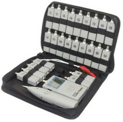 Network Cable Tester for Cat5e Cat6A Cat6 USB & Telephone Line with 24 Receiver
