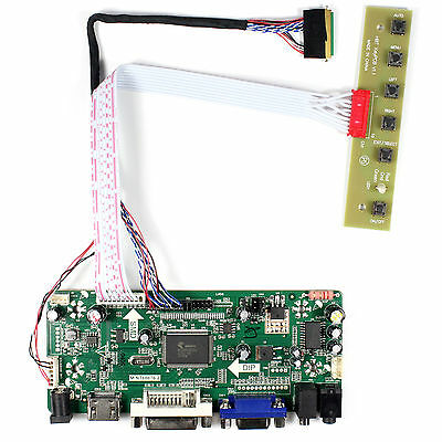 "HDMI DVI VGA Audio LCD Controller Board For 15.6"" B156XW02 LP156WH2 1366X768 LCD"