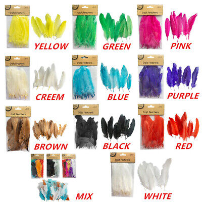 50x DIY Craft Feathers Feather Party Event Wedding Dream Catcher Costume 14-17cm