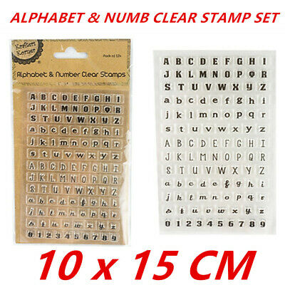 114pcs Clear Alphabet Letters Numbers Clear Stamp Set Kids Arts Craft School
