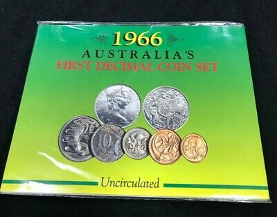 1966 Australia's first decimal coin set - uncirculated coin set Sherwood