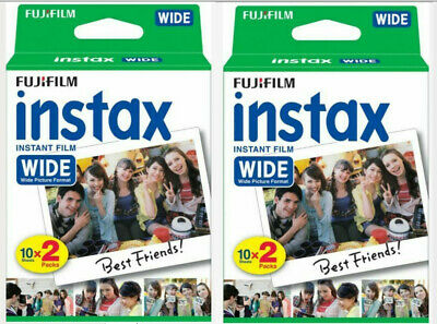 2 PACK = 40 Sheets Fujifilm Instax Instant Wide Film (best use before 2018/11)